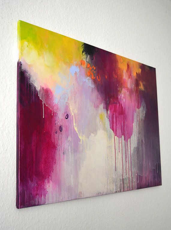 Original large abstract painting modern art by ARTbyKirsten