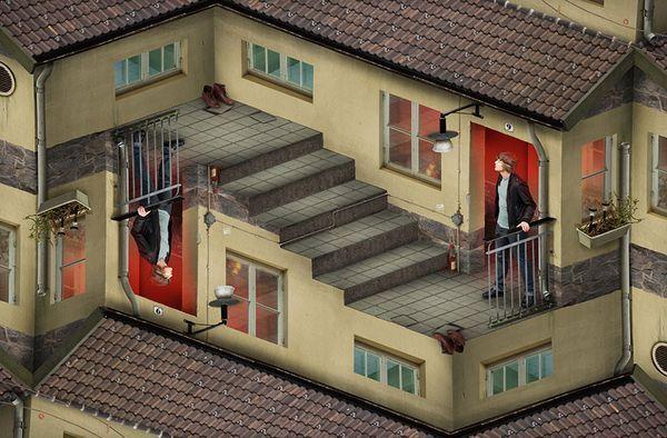 Optische Täuschungen von Erik Johansson