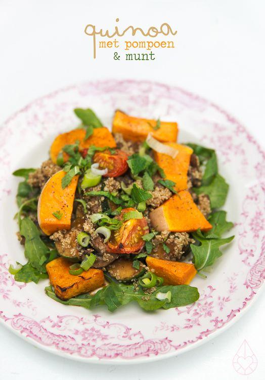 quinoa met pompoen en munt, door zilverblauw.nl