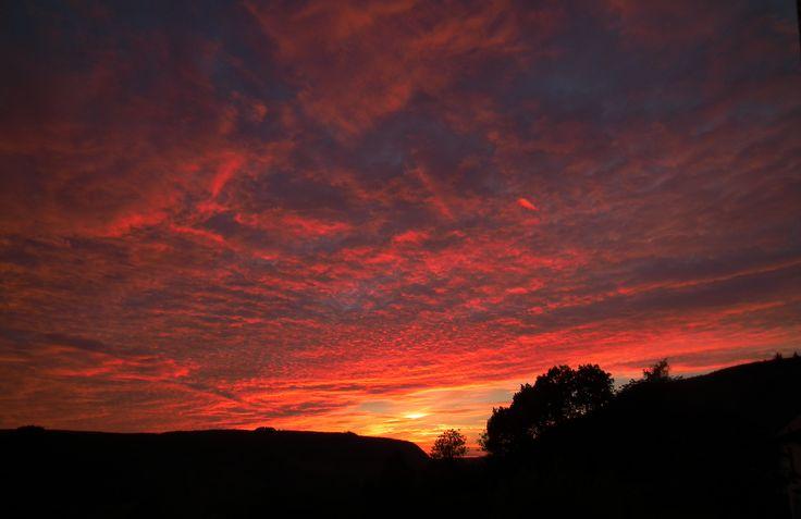 Rhandir-mwyn sunset Aug 12th 2015