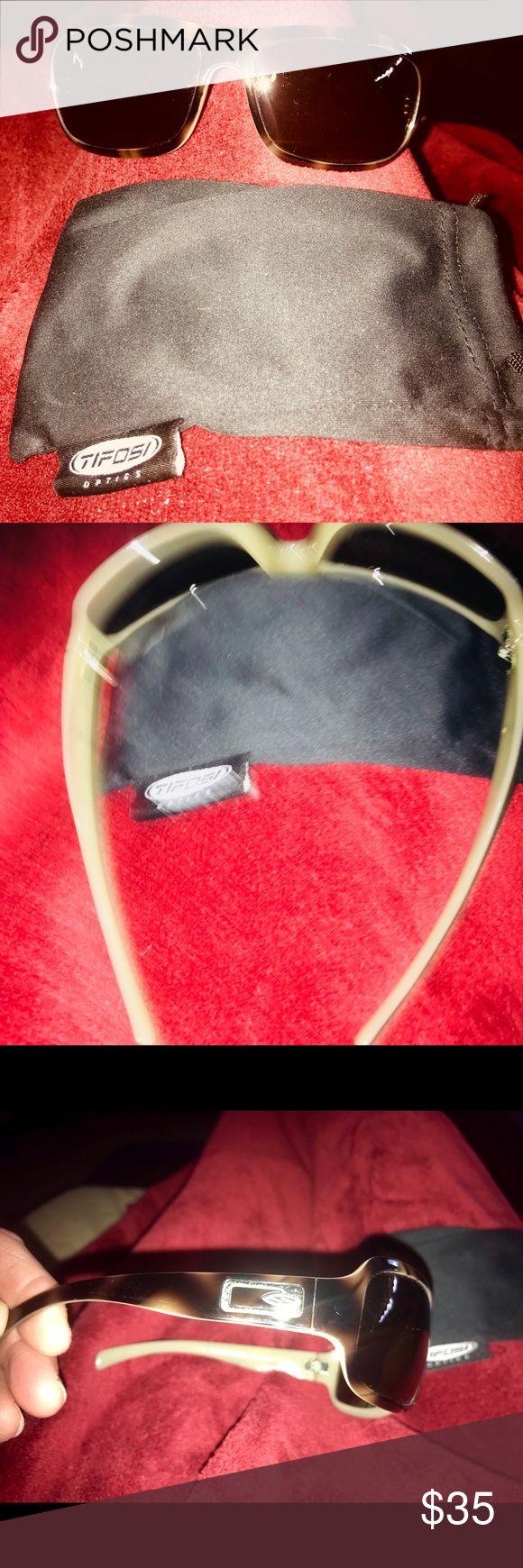 TIFOSI sunglasses 100% UV protection Brown and tan Tifosi Accessories Glasses