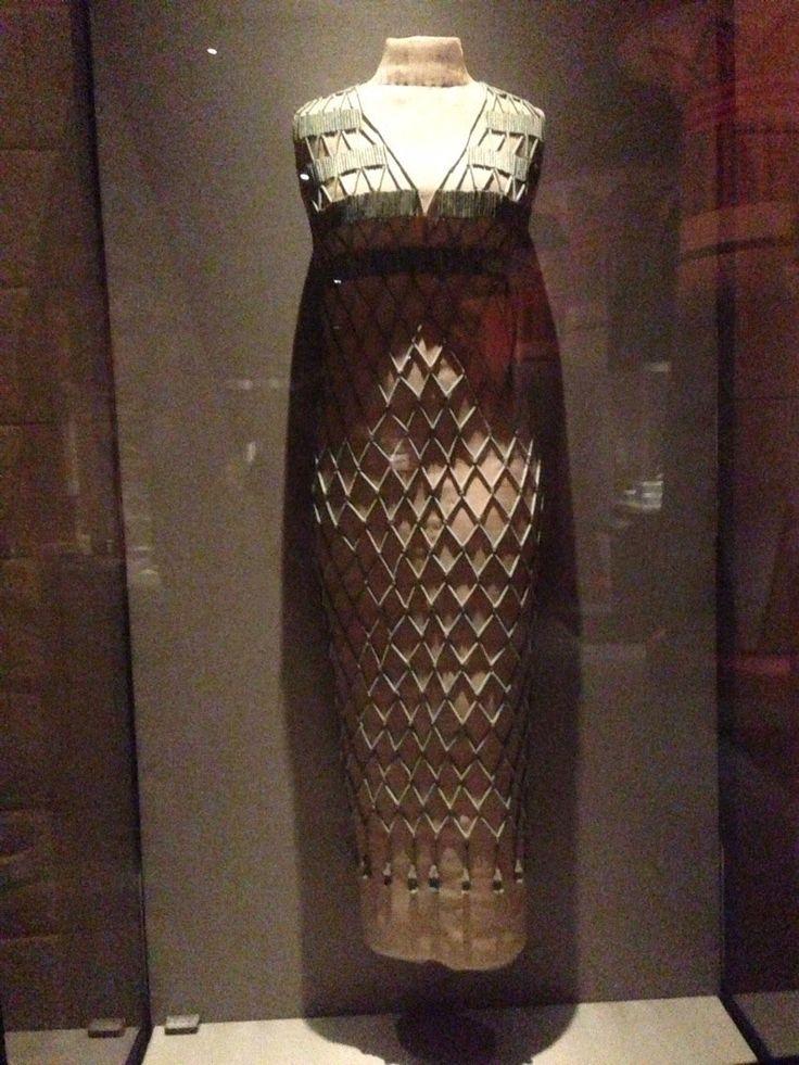 Egyptian bead dress, Houston Museum of Natural Science Egyptology Hall.  Mr....