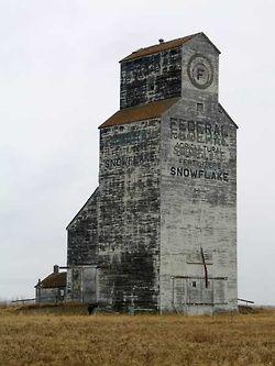 Manitoba - Snowflake - Grain Elevator