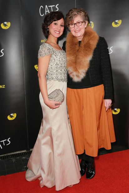 Sophia Ragavelas and Liz Mitchell attend the opening night of CATS at The Civic. Photo / Norrie Montgomery