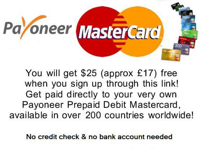 Need to receive payments? Receive payments directly to your Payoneer Prepaid Debit MasterCard® Card No bank account required http://share.payoneer-affiliates.com/a/clk/29Dyxb