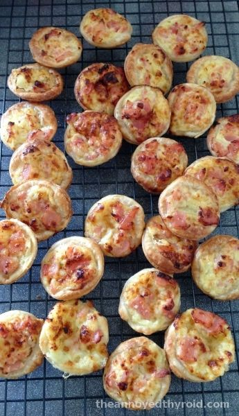 Thermomix Mini quiches (for proportions) - can eat hot or cold & can freeze for later. Best fresh out of the oven!