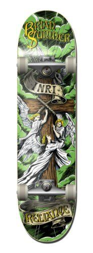 Reliance Complete Brian Sumner Inri Skateboard Deck (8.5, Green) by Reliance. $86.95. Reliance Skateboards was founded in 2003 and has pro skateboarders Brian Sumner and Josh Kasper heading up the team. Reliance only uses the highest quality materials and the graphic designs feature famous artist such as Jeral Tidwell and others.