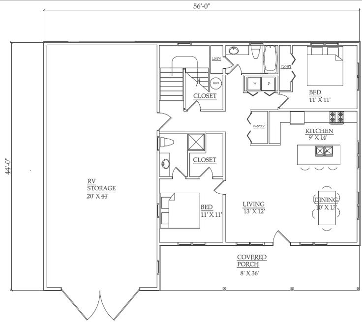 Pole barn home floor plans the sweet home home layout Barn guest house plans