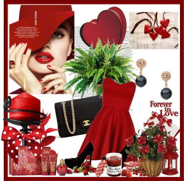"""classic red dress"" by homeyyomey on Polyvore"
