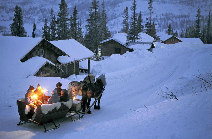 Gaustablikk, Noruega.- Que nieve, que nieve… Paisajes de Europa aún más bonitos en blanco