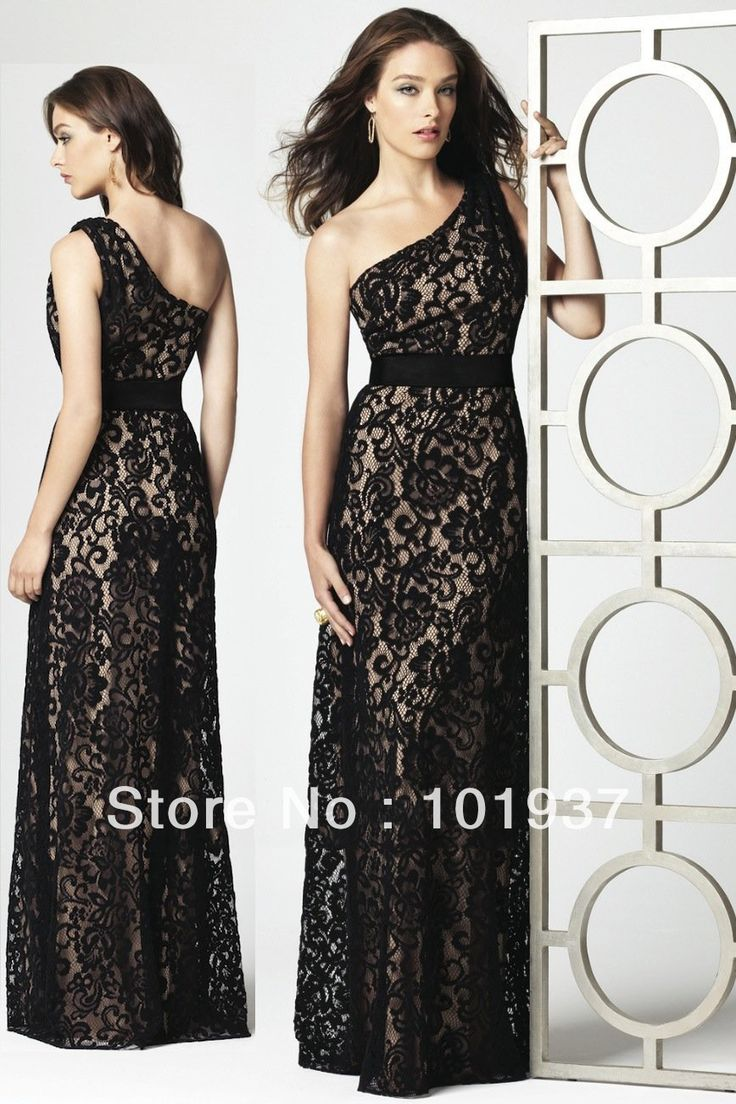 112 best bridesmaid ideas images on pinterest bridesmaid ideas 2013 long lace bridesmaid dress black one shoulder floor length wedding party dress for sale dg2850 long lace bridesmaid dressesdessy ombrellifo Gallery