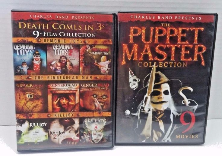 The Puppet Master Collection, Death Comes in 3s, 18 Movies in All Horror DVD Lot