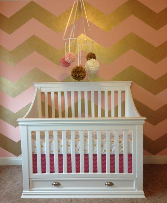 Chevron Accent Walls in Kids Rooms
