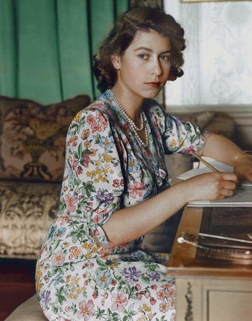 Princess Elizabeth, aged 18, year 1944 (colorized)