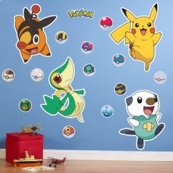 Pokemon wall decals are a great way to decorate your kids' bedroom, especially if your child loves the Pokemon series. Just plain white colored...