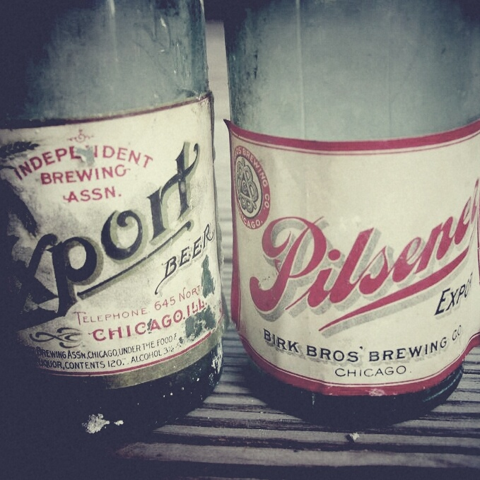 Beer bottles from 1920's, found in a wall of my friend's house in Chicago. #wysokipolysk #fleastyle #beer