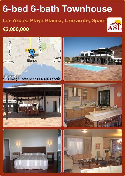 6-bed 6-bath Townhouse in Los Arcos, Playa Blanca, Lanzarote, Spain ►€2,000,000 #PropertyForSaleInSpain