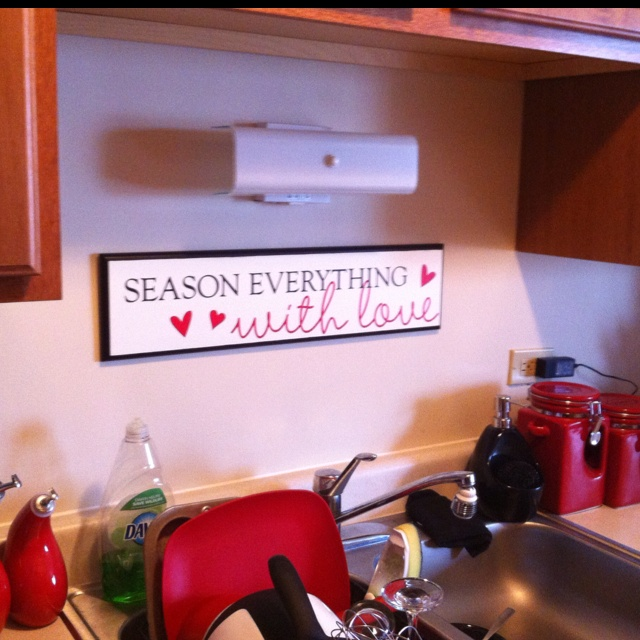 Uppercaseliving.com  Ordered the white board and painted the edge black, and applied this vinyl decal from Uppercase living for my kitchen decor.... Https://brookebeney.uppercaseliving.net Order online today!