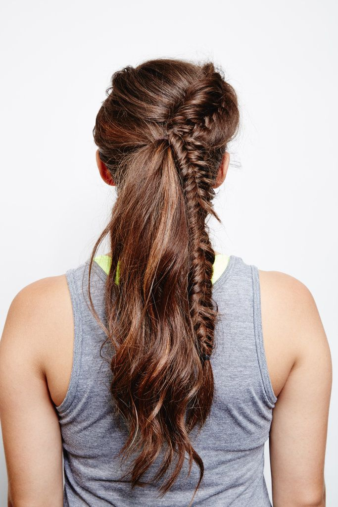 Try This DIY French Fishtail Ponytail on Your Next Trip to the Gym!