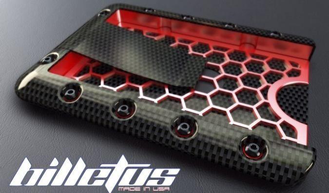 Billetus Maximus Minimalist Wallet Made Of Carbon Fiber, Titanium, Aircraft Grade Aluminum