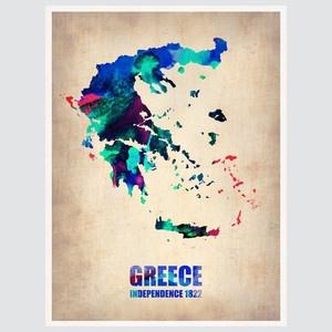 Greece Watercolour Print
