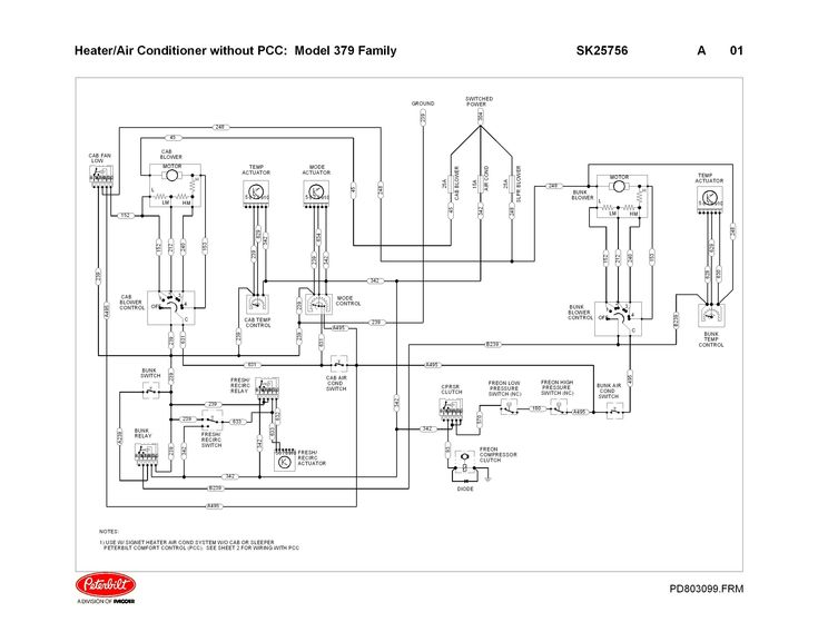 Peterbilt Sdometer Wiring Diagram, Peterbilt 379 Headlight Wiring Diagram