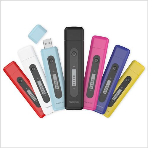 Portable iPhone charger - charge it up via USB then toss in your bag + go! Powerstick with Memory