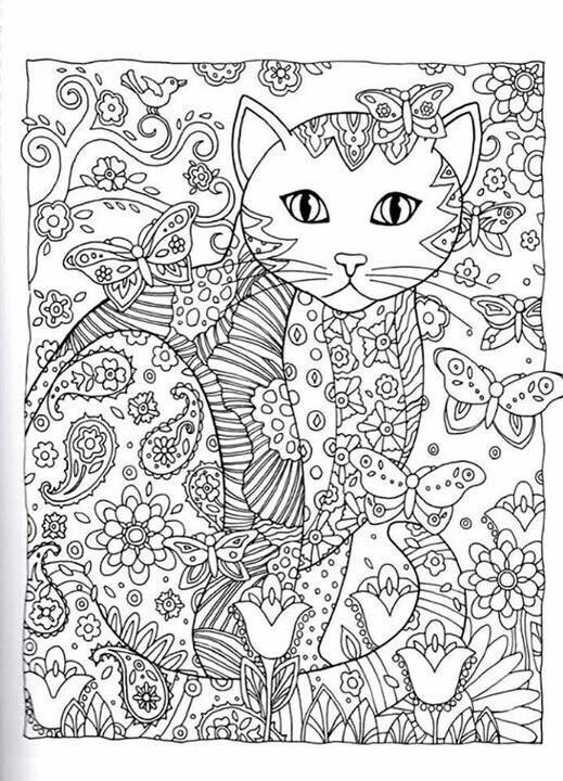 11 best антистресс images on Pinterest Coloring books, Coloring - best of coloring pages black cat