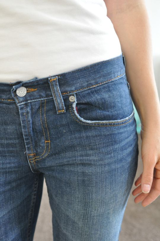 how to make length fitting jeans