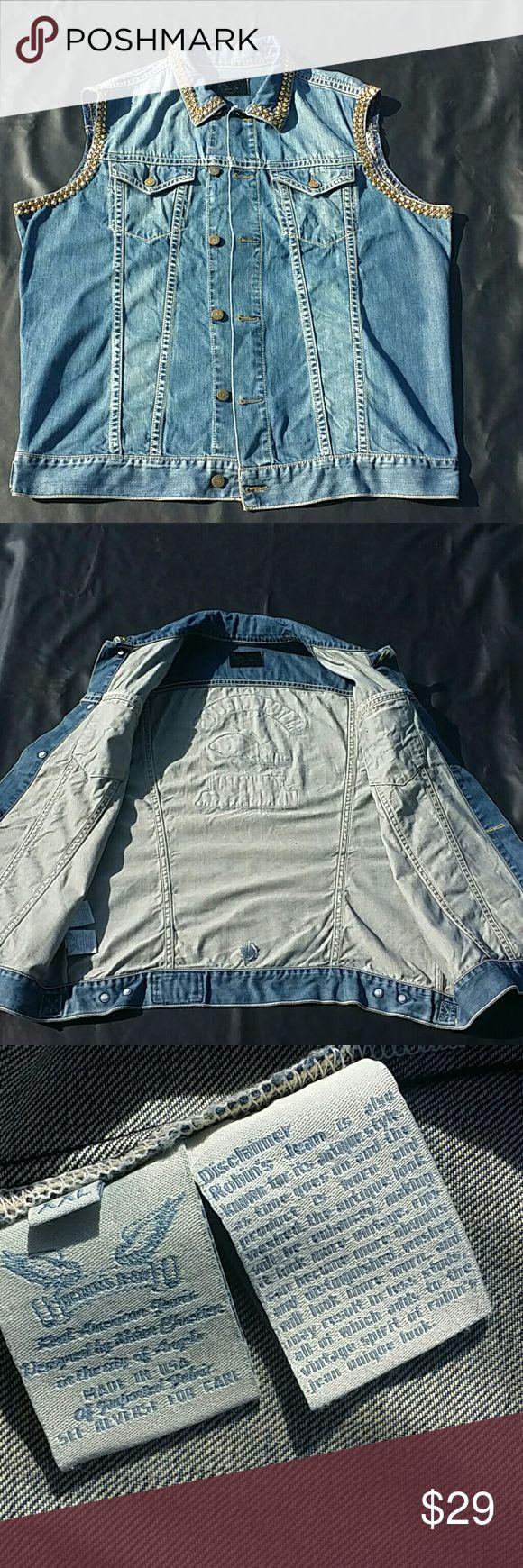 Men's Jean Vest Men's Jean Vest ( Distressed look ) Robin's Jean  Jackets & Coats Vests