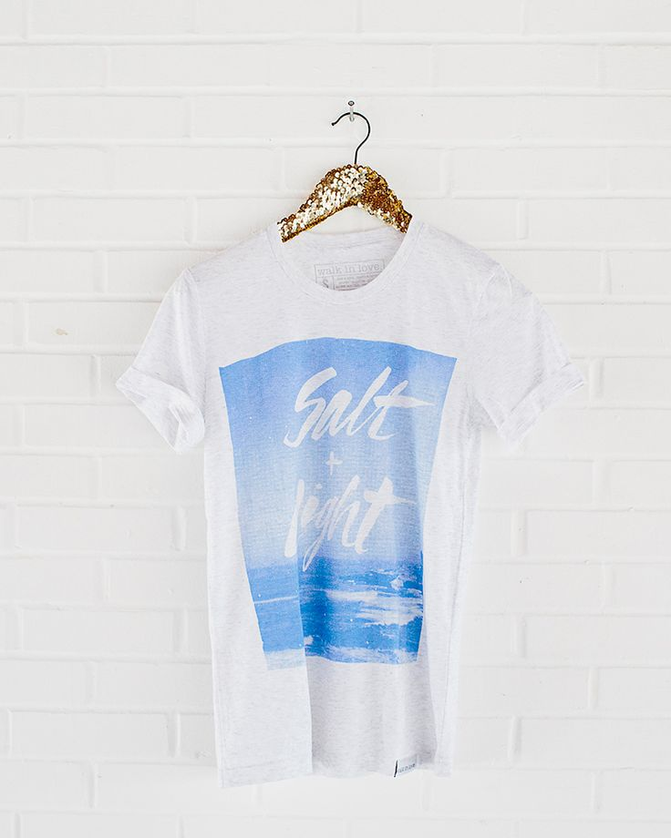 you are the salt of the earth. and the light of the world / photo t-shirt / graphic tee / hipster style