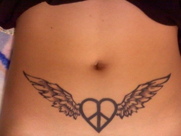 27 best angel wings images on pinterest angel wings peace signs and tattoo designs. Black Bedroom Furniture Sets. Home Design Ideas