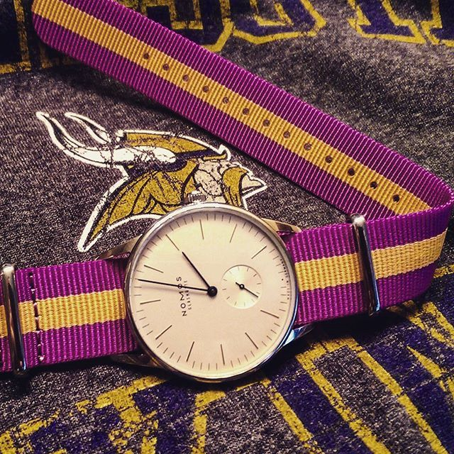 Where are my #nfl fans?  Season kicks off tonight with the hall of fame game.  Go #vikings.   Who is your team?  _____________________________________ #nomos #nomosglashuette #aguetradingco #mnvikings #skol #watch #instawatch #dailywatch #watchesofinstagram #mnwatches #watchfam #mspwatchfam #redbar #redbarmsp #wristgame #womw #watchaddict #wotd #wis #watchporn #nato #watchpics  _____________________________________ by dmb359