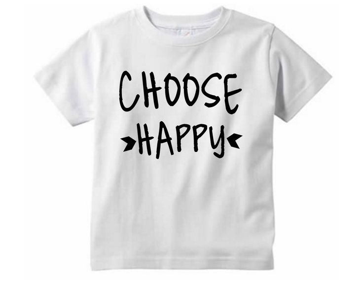 Choose happy Shirt // Children's clothing - Graphic tee - Choose joy  - Toddler tshirt - Be happy shirt - Choose joy shirt by SkeleteePrinting on Etsy