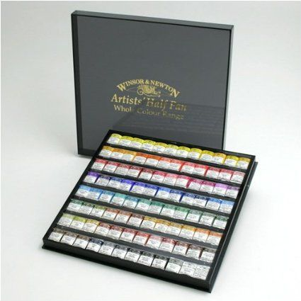Amazon.com: Windsor Newton artist watercolor half pan 96 color set (japan import): Toys Games