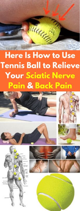 Here Is How to Use Tennis Ball to Relieve Your Sciatic Nerve Pain and Back Pain - Fitnez Freak