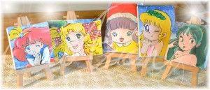CriAzioni di Cristina - Piccole tele cartoni animati dipinte a mano