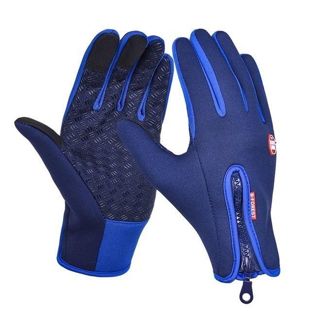 HERREN Leder Handschuhe Weich Winter Warm Outdoor Wandern