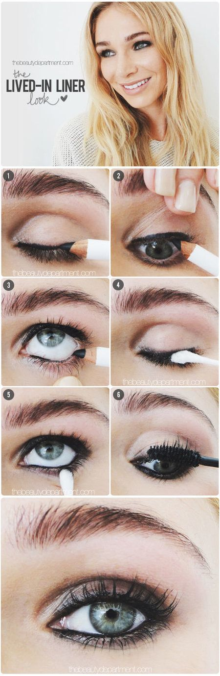 I LOVE this look it's intense but not too prim & perfect. I can't wait to try this and smudge the liner with a q-tip.   Follow these directions here -   http://thebeautydepartment.com/2014/05/street-model-eyes/