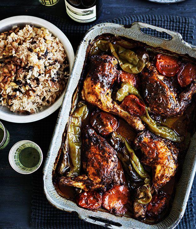 Turkish Style Roast Chicken Rice Pilav Recipe Gourmet Traveller