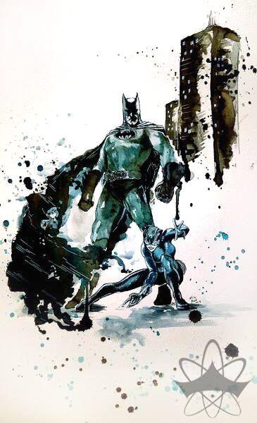 BATMAN & CATWOMAN  Inspired by Andy Kubert's original art