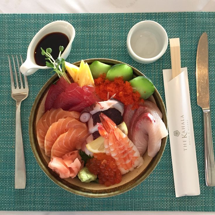 A beautiful Chirashi bowl