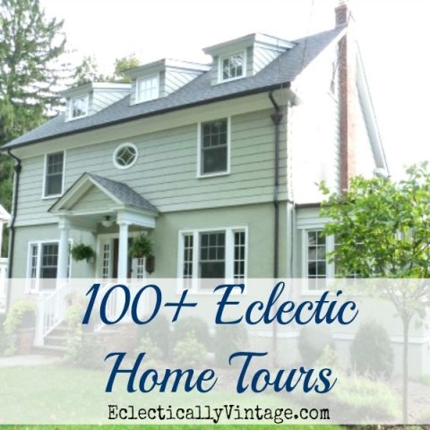 Eclectic Home Tour eclecticallyvintage.com