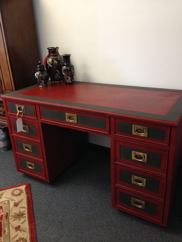 Old desk redo!  Milk Paint and Chalk Type Paint!