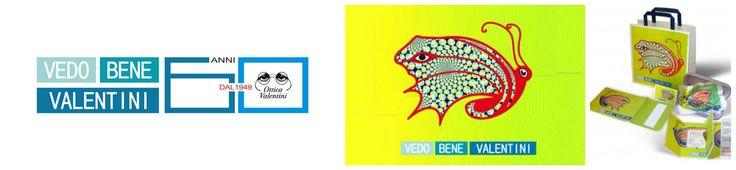 """Ideazione logo e marchio dei prodotti OTTICA VALENTINI"""" per la campagna """"VEDO BENE VALENTINI"""", ideazione spot tv, stampa e affissione manifesti  #loghi #pubblicità #ideazione #ottica"""