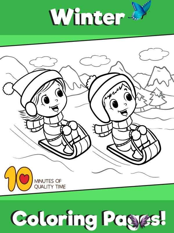 Snowy Day Coloring Page Winter Coloring Pages For Kids Br Snowy Day Coloring Page B W Printable Avia Codeblock Placeholder Uid 1 Fun With A Sled On A Snowy I 2020