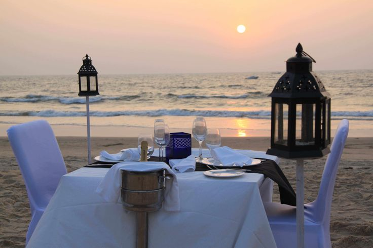 How about being #serenaded by the #waves as you experience a #magical #sunset #dining experience? #beachdining #Goa