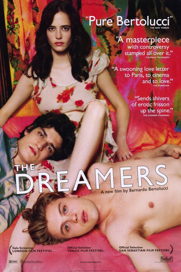 The Dreamers (2003)  	 A young American studying in Paris in 1968 strikes up a friendship with a French brother and sister. Set against the background of the '68 Paris student riots.