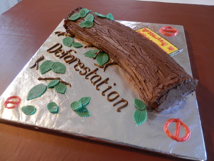 Science Project #Deforestation Christmas #Yule Log with a difference.