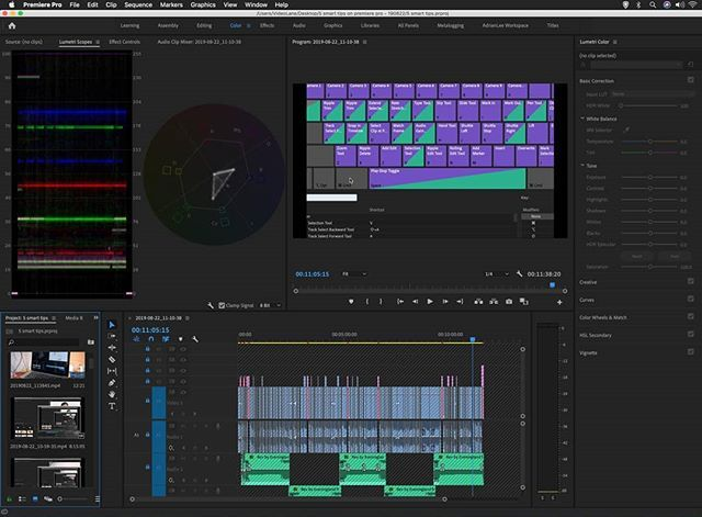 I Just Documented The 5 Smart Shortcuts I Use Most Often When Editing Videos On Adobe Premiere Pro Cc 1 Do Adobe Premiere Pro Video Editing Premiere Pro Cc